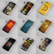 GAME OF THRONES SYMBOLS OF HOUSES MAP 3D PHONE CASE COVER FOR IPHONE OR SAMSUNG