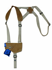 NEW Barsony Horizontal Olive Drab Leather Shoulder Holster Taurus Comp 9mm 40 45