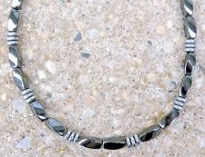 Mens Womens Powerful 100% Magnetic Black and Silver Hematite Necklace Clasp