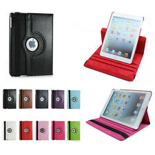 360° Degree Rotatable Leather Skin Case Cover Kickstand For Apple iPad Air 2 1