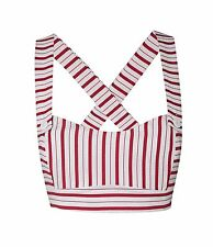 Tara Starlet red stripe 50s/60s vintage bralet/crop top/vlv/co-ord/12/14