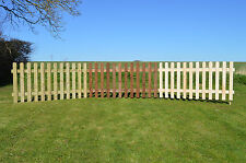 PICKET FENCE, Round Top, Pressure Treated, Available in 6ft x 3ft and 6ft x 4ft.