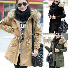 Hot New Femme Manteau Fleece Veste à Capuche Thicken Parka Blouson Coat Jacket