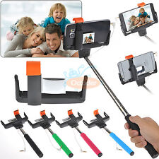 Wired Shutter Release Handheld Selfie Stick Monopod for iPhone 6/6Plus/5S/5C/5