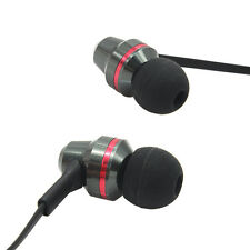 Metal earphone headphones Stereo In-Ear for mp3 ipod iphone mic gr8 Bass 3.5 mm