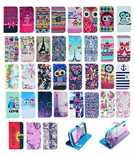Vintage Pattern Flip Wallet Leather Case Cover Stand For HTC One M8/Desire 500
