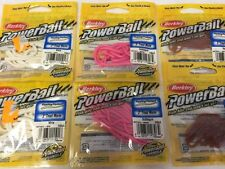 "2-BERKLEY POWERBAIT 3"" TROUT WORMS 10 CT EACH ASST COLORS BRAND NEW"