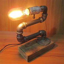 Vintage Industrial Retro Style Adjustable Steel Pipe Desk Table Lamp Light