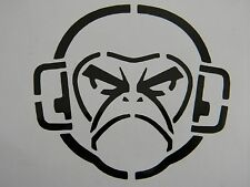 Angry Monkey Vinyl Decal Sticker Choose your Color and Size