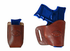 New Barsony Burgundy Leather Yaqui Holster + Mag Pouch for Ruger Compact 9mm 40