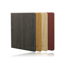 4 COLORS WOOD GRAIN BOOK FLIP Rotating PU LEATHER CASE COVER FOR iPad AIR 5