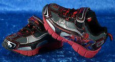 BUSTER BROWN Amazing SPIDER-MAN Spiderman LIGHT UP Tennis Shoes Sizes 5 Velcro