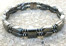 Double Strength Twist Hematite Magnetic Circulation Sports Bracelet Anklet AAA++