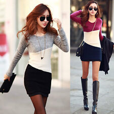 NEW Women Spring Winter Long Sleeve Knitted Jumper Sweater Tops Pullover Dress