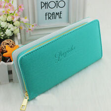 Fashion Style Women Lady Long Leather Wallets Zip Around Case Cards Purses Gifts