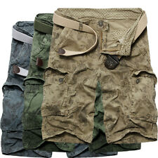 New Fashion Men's Army Camouflage Shorts Casual Military Cargo Camo Combat Pants
