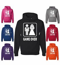 Game Over Sweatshirt Funny Groom Bride Hoodie Bachelor Wedding Gift Husband Wife