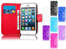 New Magnetic Bling Wallet Flip Book Holder Leather Pu Case For Apple iPhone 5C