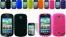 Screen Guard+Silicon Case Cover For Samsung Galaxy Stellar SCH-I200/Jasper Phone