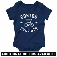 Boston is for Cyclists One Piece - Bike BOS Infant Creeper Romper Baby NB to 24M