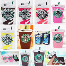 3D Cartoon Starbucks Coffee Silicone Skin Cover Case For iPhone Samsung Galaxy
