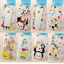 New Cute Cartoon Disney Crystal Clear TPU Soft Case Cover for Samsung/iPhone