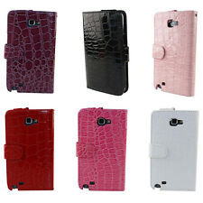 Crocodile Alligator Leather Skin Case Cover For Samsung Galaxy Note N7000 N7005