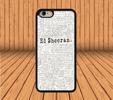 Ed Sheeran for iPhone 6 6+ 4S 5/5S 5C Samsung Galaxy S3 S4 S5 S6 Note 2/3/4 Case