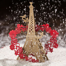 Romantic Eiffel Tower Themed Wedding Invitations Cards With Envelopes and Seals