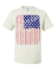 American Flag Tee Shirt US Flag Aztec Design 4th Of July Patriotic USA T-shirt