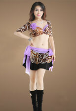 Belly Dance Costume 3 Pics set Bra&Scarf Skirt&Pants 34B/C 36B/C 38B/C 7 Color