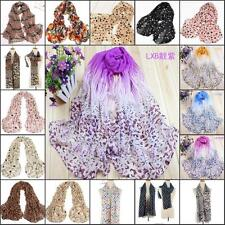 Fashion ladies womens Long Soft Chiffon Scarf Wrap Voile Shawl Stole Scarves new