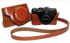Leather Camera Case Bag Cover For Panasonic Lumix DMC-LX7 LX5 Leica D-LUX6 LUX5