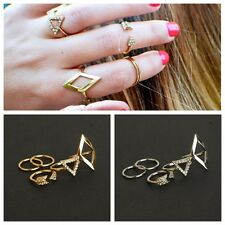 New 5pcs/set Mid Midi Above Knuckle Ring Band Gold Silver Tip Finger Stacking