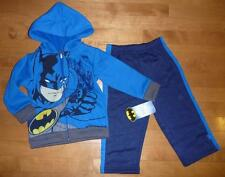 Boys BATMAN Outfit Set HOODIE Pants Size 2T 3T 4T Blue BAT MAN Sweat NWT
