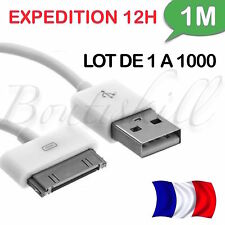 LOT 1/ 1000 CABLE RENFORCE★ USB CHARGEUR RECHARGE SYNC ★iPhone 3,4,4S,Ipad,Ipod★