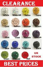 Pave Disco Polymer Clay Rhinestone Ball Beads 10mm Hole:1.5mm Shamballa Bracelet