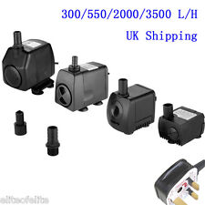300/550/2000/3500 L/H Submersible Water Fountain Pump for Fish Tank Pond UK Ship