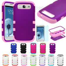 New Hard Hybrid Rubber Skin phone Cover Case For SAMSUNG GALAXY S III S3 i9300