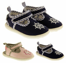 Girls Boys Canvas T-bar Pumps Open Flat Kids Summer Shoes Sz Size 7 8 9 10 11 12