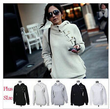 6 Color Women Plus Size Casual Pullover Hoodie Jacket Sweater Coat Hooded Jumper