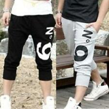 Mens Casual Hip Hop Dance Sweat Sport Harem Capri Shorts Pants 3/4 Knee Trousers