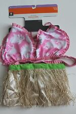 DOG HULA GIRL PET HALLOWEEN COSTUME PARTY OUTFIT SMALL S MEDIUM M XL PINK HAWAII