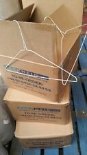 """500 Pack White Metal Wire Clothes Hangers - 41cm (16"""") BUY 2 BOXES GET 3rd FREE!"""