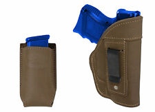 NEW Barsony Olive Drab Leather IWB Gun Holster + Mag Pouch Bersa Compact 9mm 40