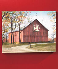 Traditional Season Barn Wall Art Home Decor Artist Billy Jacobs Canvas on Wood