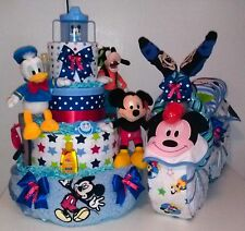 Disney Diaper Cake Mickey Mouse or Minnie Mouse design Baby shower centerpiece
