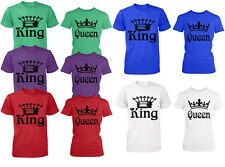 Couple T-Shirt - King and Queen Crowns - Love Matching Shirts - Couple Tee