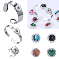 Jewelry Floating Charm Locket For Snap-It Chunk Button Snap Bangle Bracelet Gift