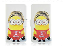 Minions Despicable me Magnetic PU Leather Flip Case Cover For LG Google Phone 49